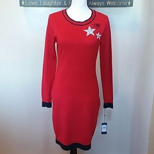 Tommy Hilfiger long sleeve sweater dress sm